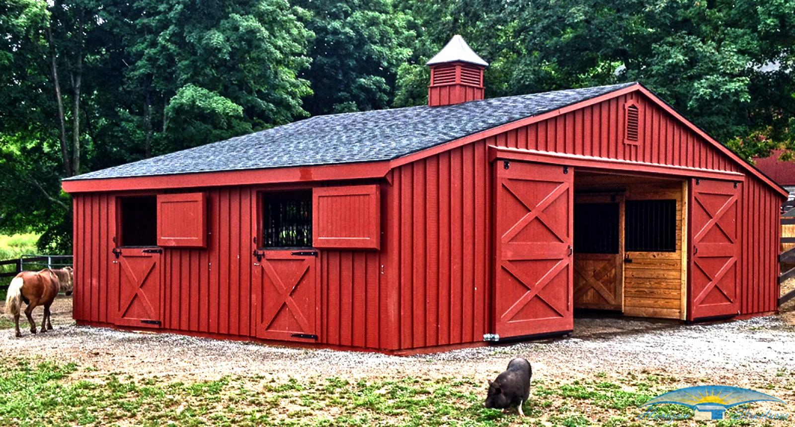 horse-barns-low-profile-36x24-painted-board-and-batten-in-conneticuit